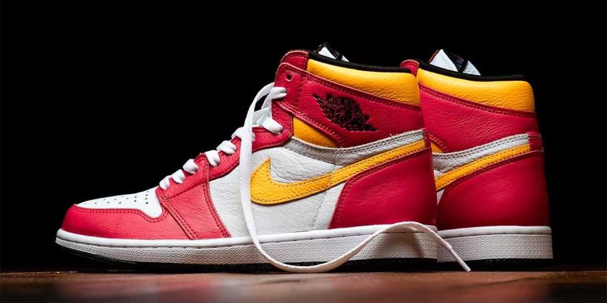 "555088-603 Air Jordan 1 ""Light Fusion Red"" released this Saturday"