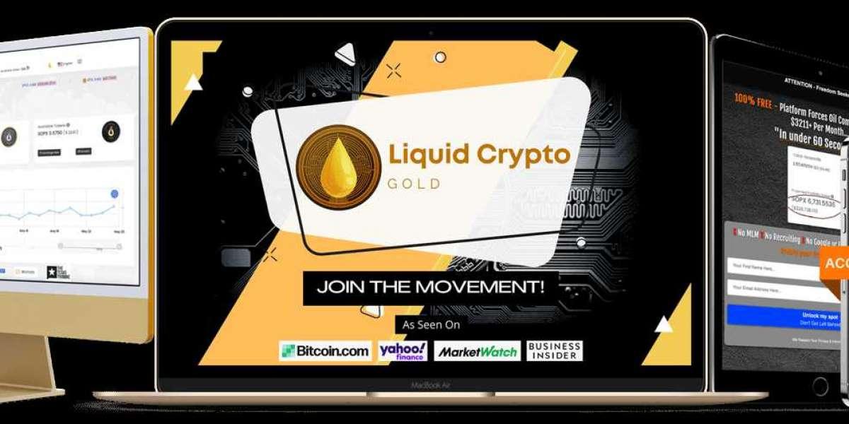 """Introducing """"Liquid Crypto Gold""""."""